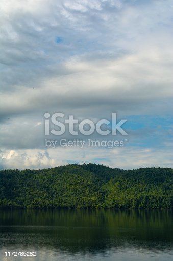 Looking over the Chilhowee lake near to the abrams creek area.  Great smokey mountains national park, Tennessee, USA.