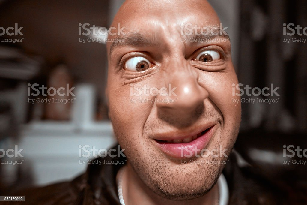 looking so funny stock photo