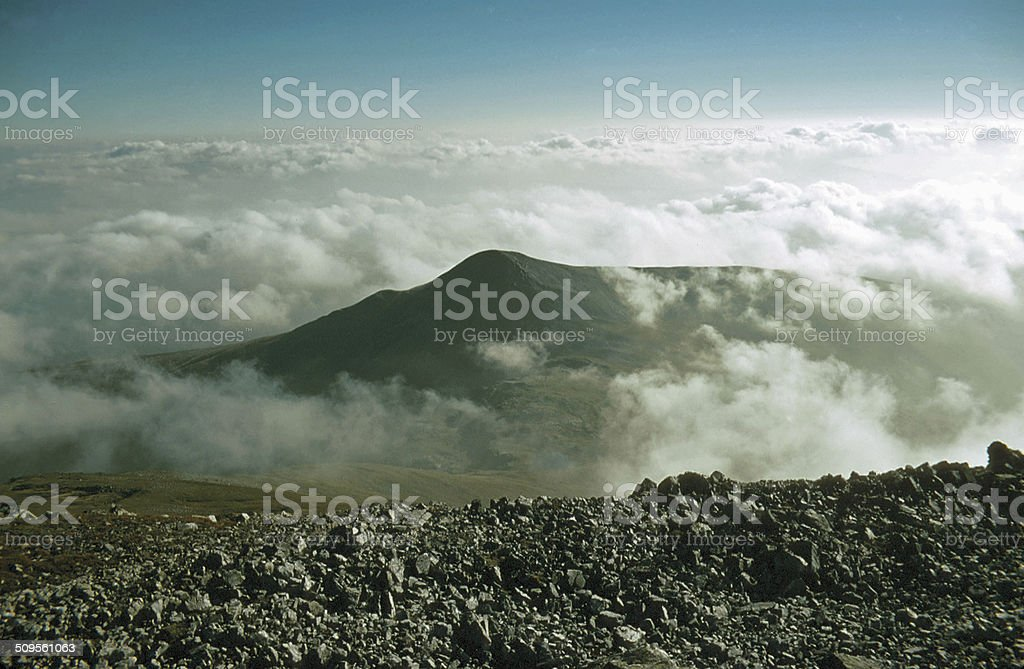 Looking South from Ridge of Grey Corries Lochaber stock photo
