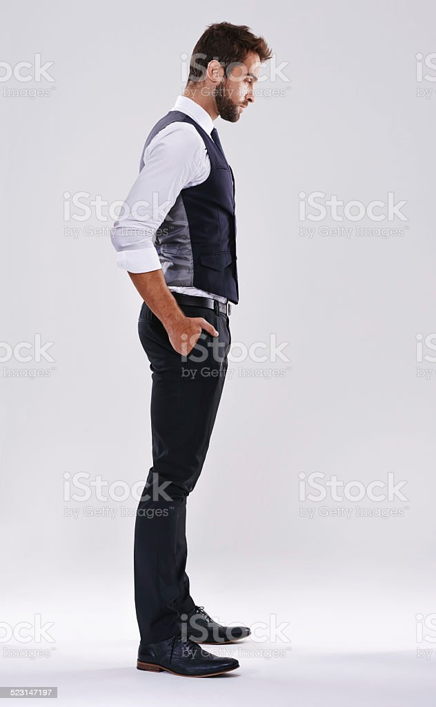 Looking suave stock photo