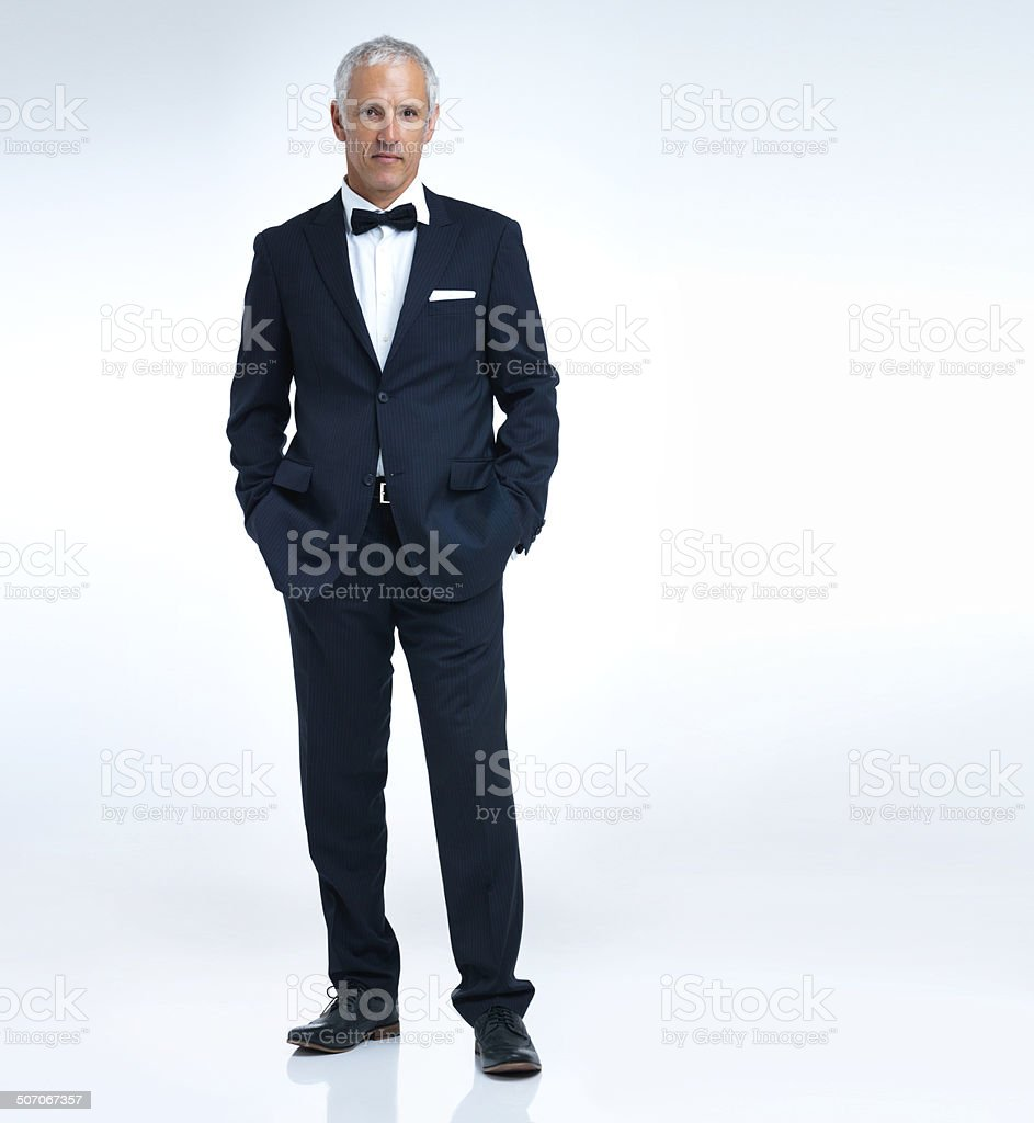 Looking swanky stock photo