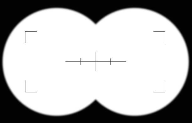 Regardant à travers un jumelles Viseur - Photo