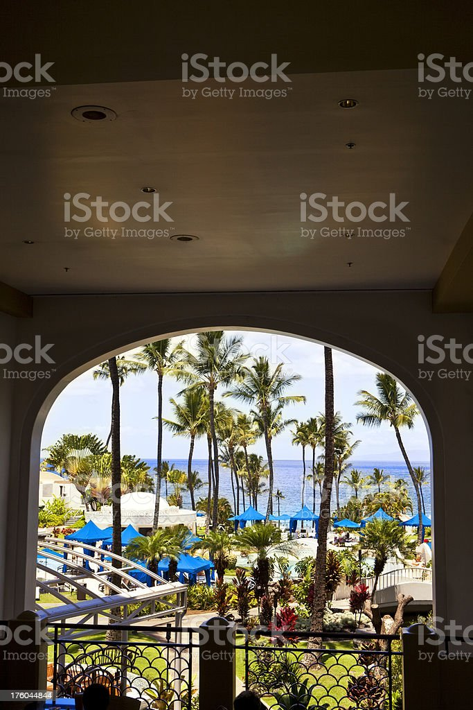 Looking Through At The Landscape royalty-free stock photo