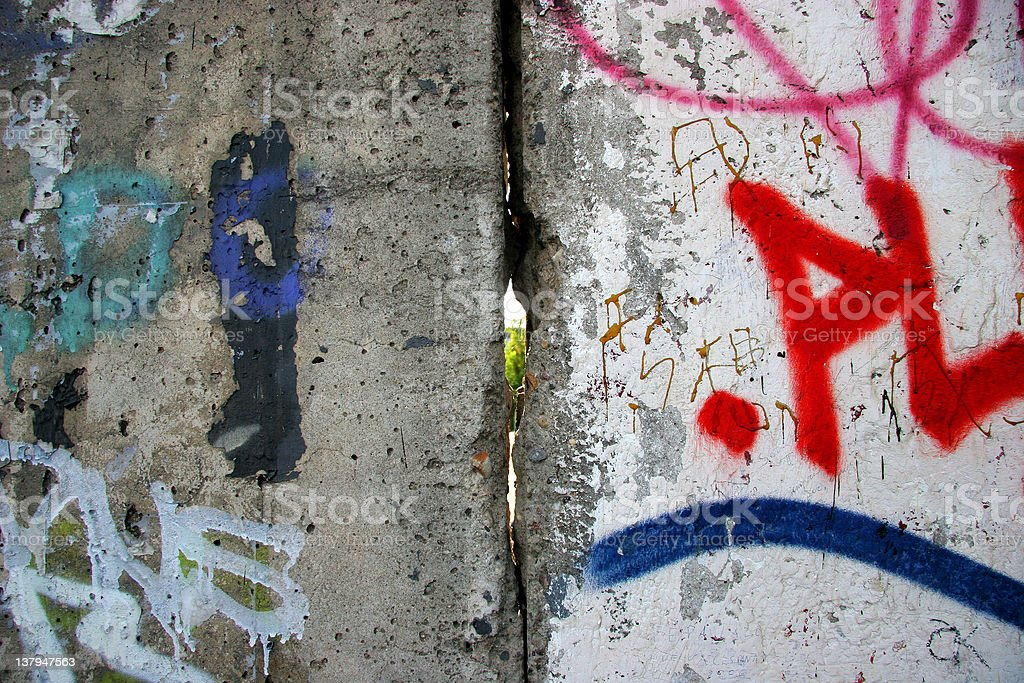 Looking Through the Berlin Wall royalty-free stock photo