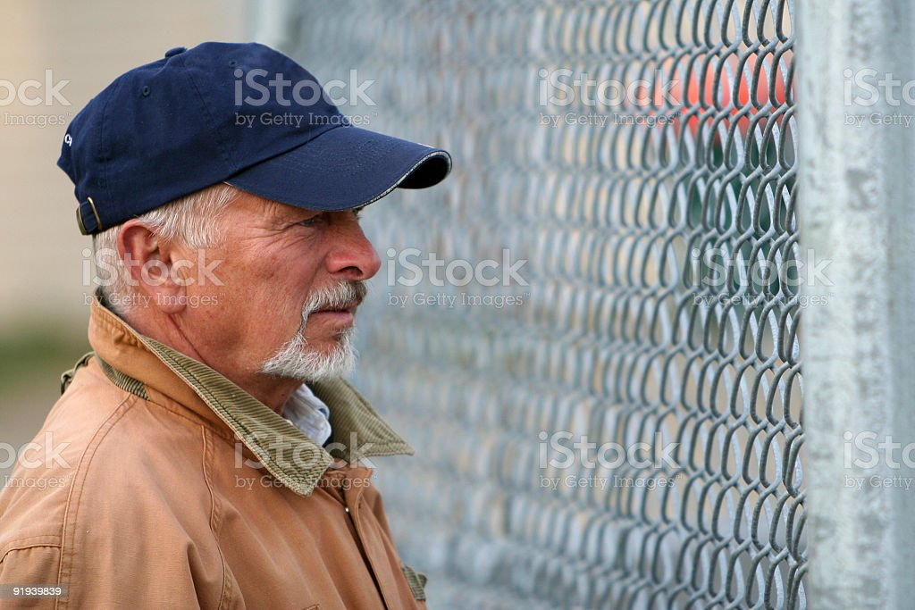 looking through the fence royalty-free stock photo