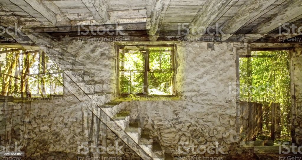 Looking through the Marston House royalty-free stock photo