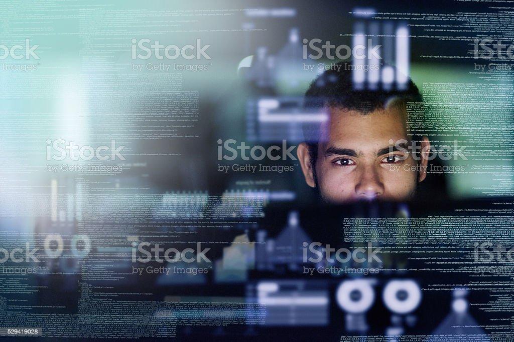 Blick aus dem Source-code Lizenzfreies stock-foto