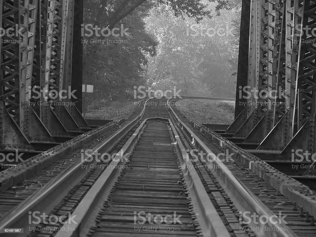 looking through the tracks royalty-free stock photo