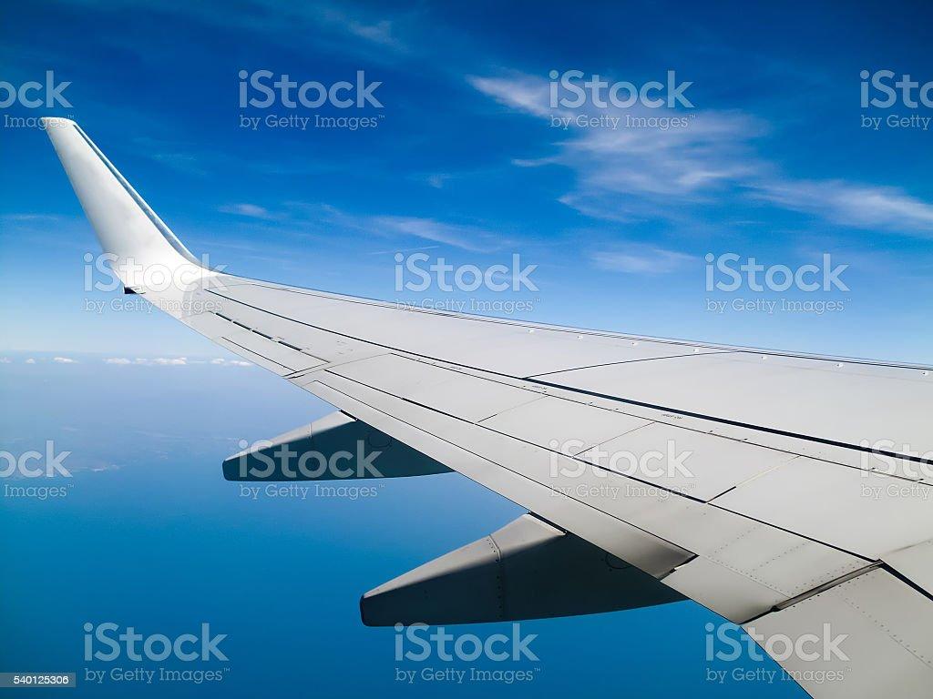 Blick Aus Dem Fenster Während Flug Flugzeug Stock Fotografie Und