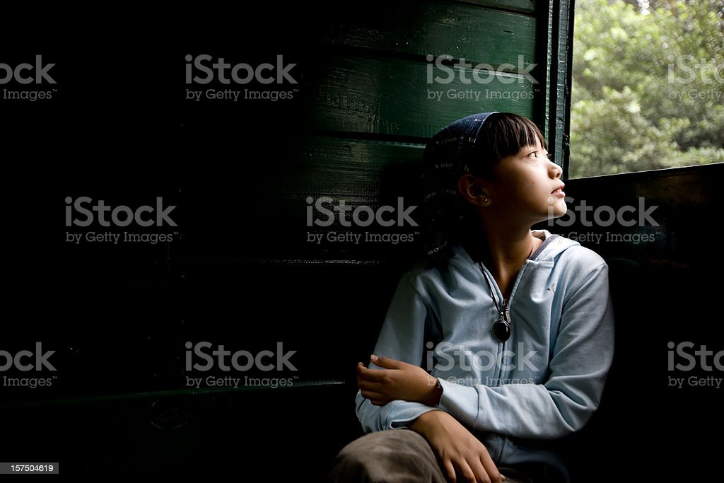 Looking Through Window royalty-free stock photo