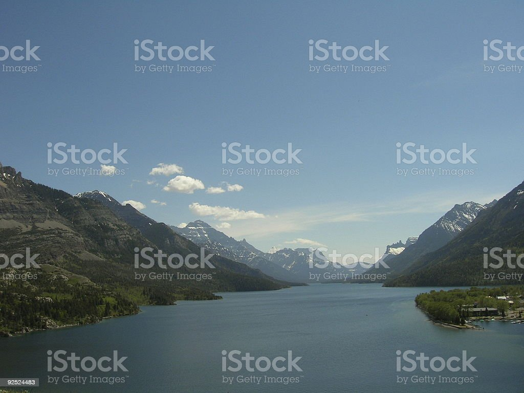 Looking to Montana from Waterton Canada royalty-free stock photo