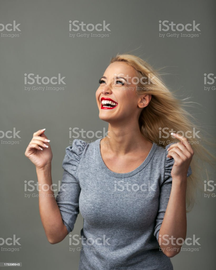 Looking to Side stock photo
