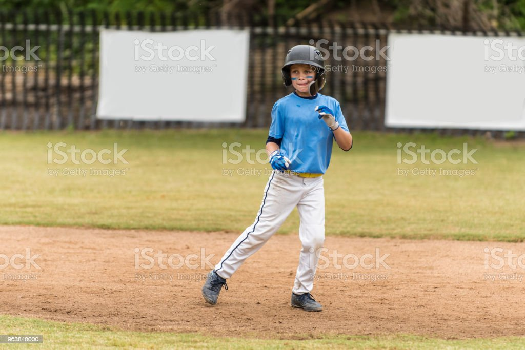 Looking to steal a base. - Royalty-free All Star Stock Photo