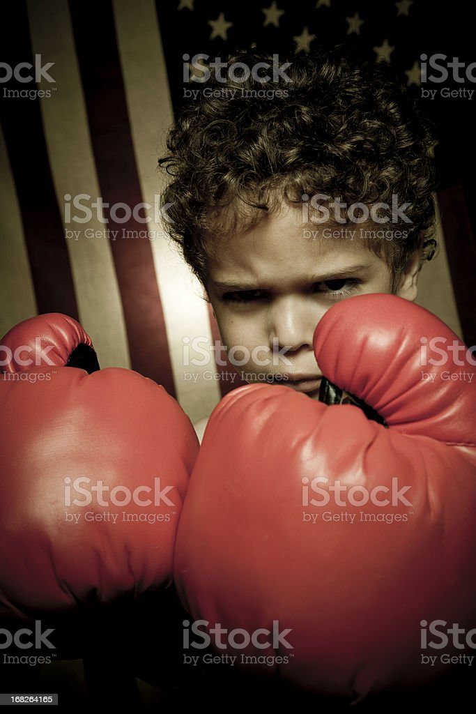 Looking tough royalty-free stock photo