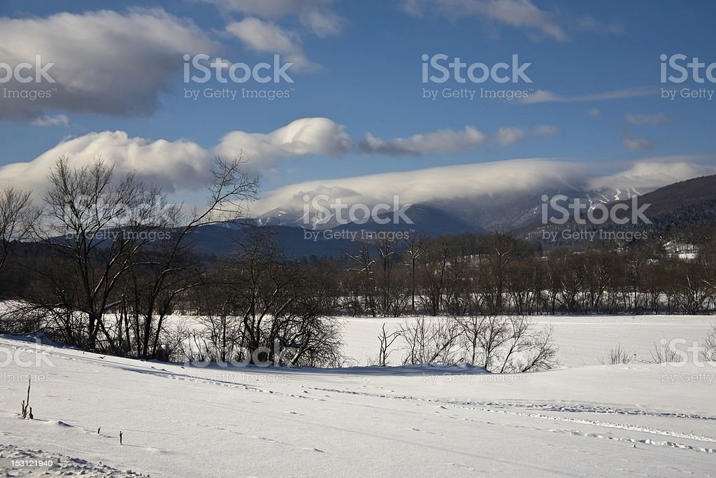 Looking toward Sugarbush and Mad River stock photo