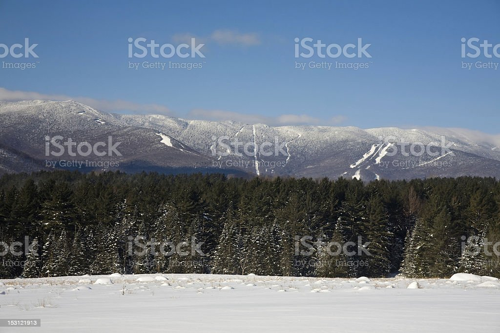 Looking towards Sugarbush stock photo