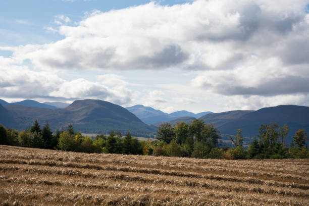 Looking towards the Wester Ross mountains stock photo
