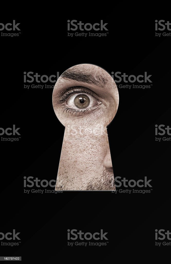 Looking trough the keyhole. royalty-free stock photo