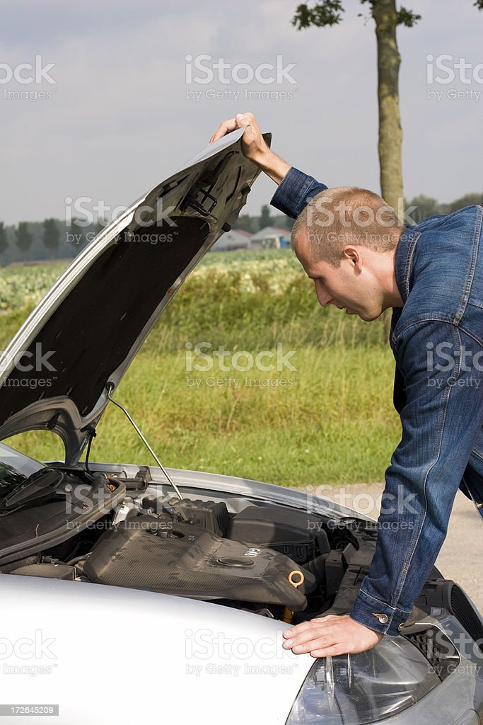 Looking under the hood royalty-free stock photo
