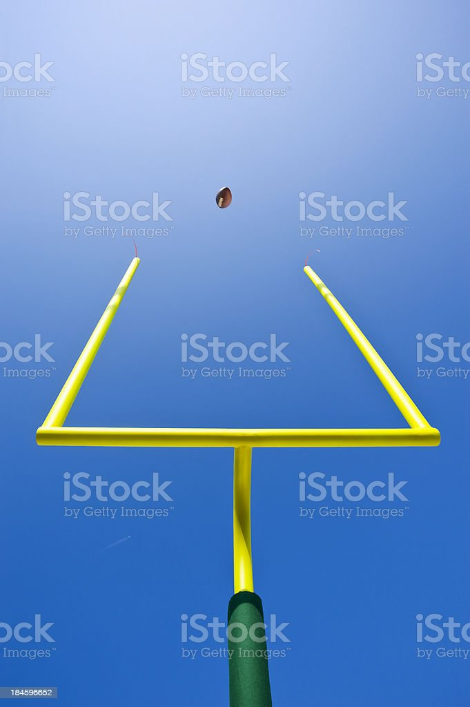 Looking up at a Field Goal - American Football stock photo