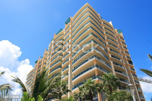 istock Looking up at a modern apartment building 144723536