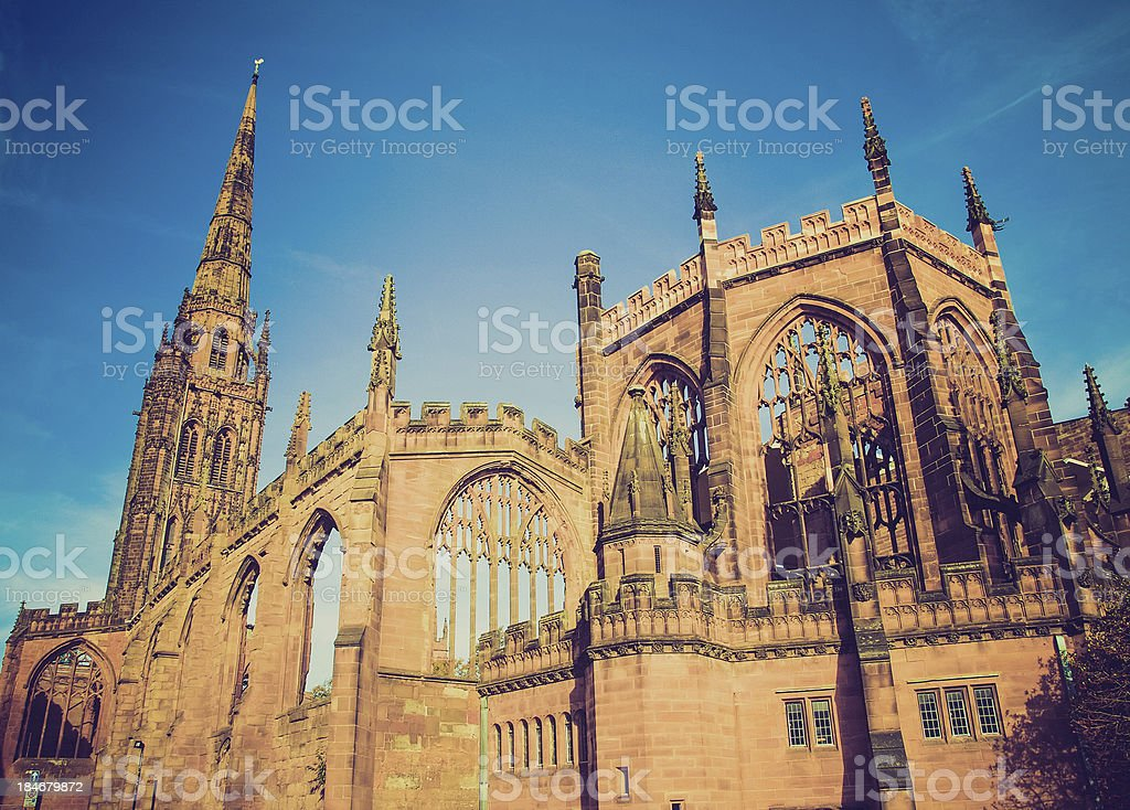 Retro-look Kathedrale von Coventry – Foto