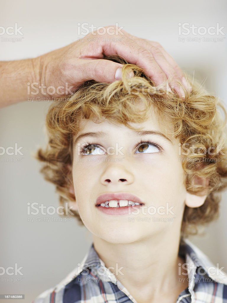 Looking up at dad royalty-free stock photo
