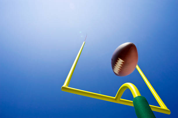 Looking up at Field Goal - American Football