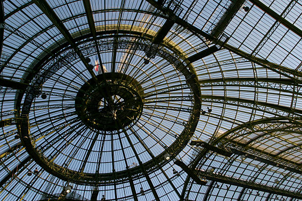 looking up at the elaborate design of the roof - cupola stock pictures, royalty-free photos & images