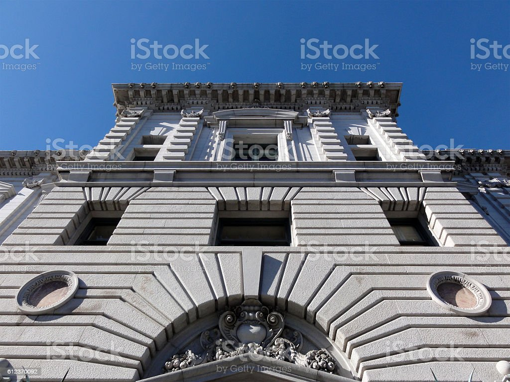 Looking up at the United States Court of Appeals stock photo