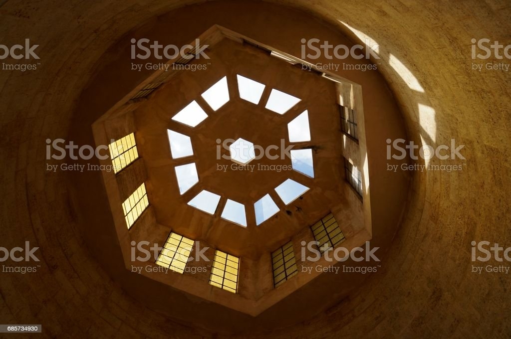 Looking up, ceiling architectural detail royalty-free stock photo