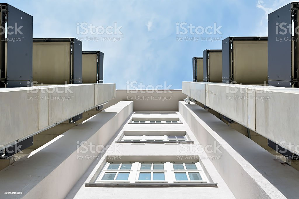 Blick nach oben stock photo