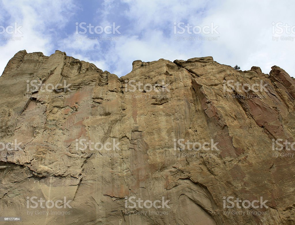 Looking Up Smith Rock royalty-free stock photo