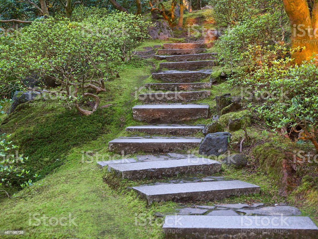Regarder En Pierre Pas Le Jardin Japonais De Portland Dans Loregon ...