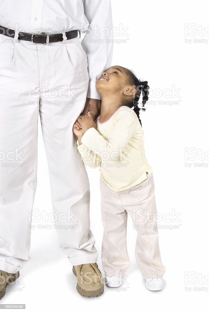 Looking Up To Daddy royalty-free stock photo