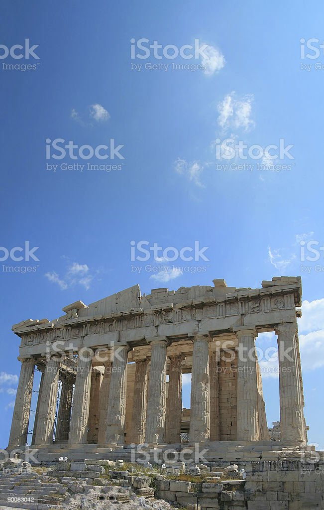 Looking Up to the Acropolis stock photo
