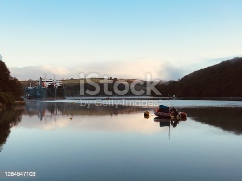 River Fal  in Cornwall. This most southerly county of the UK, with a proud maritime heritage, is a popular holiday destination.