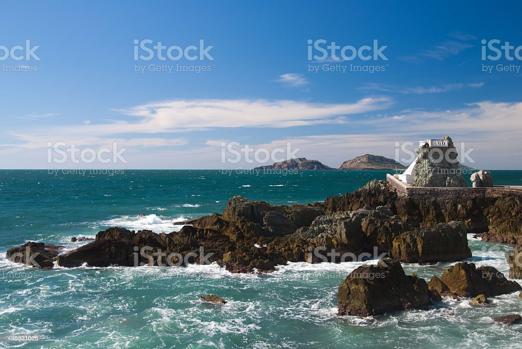 Lookout at Mazatlan Beach stock photo