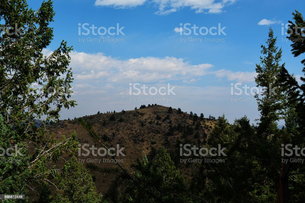 Lookout Mountain on a calm fall day in Colorado stock photo