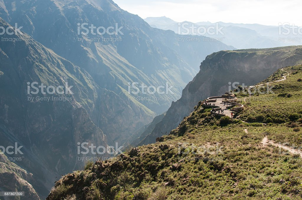Lookout on Colca Canyon stock photo