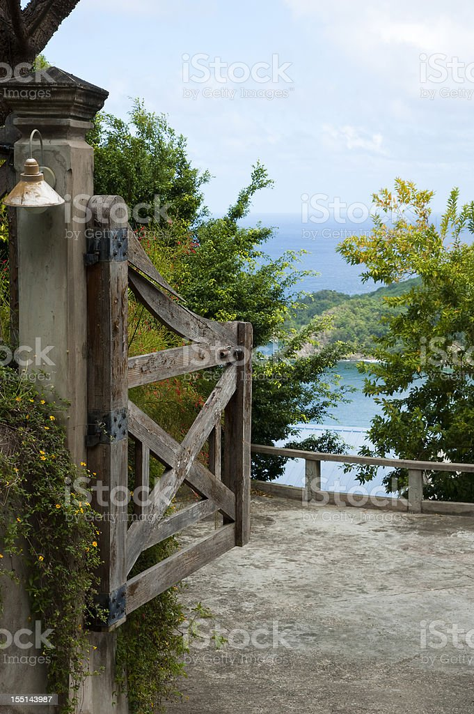 Lookout Tobago royalty-free stock photo