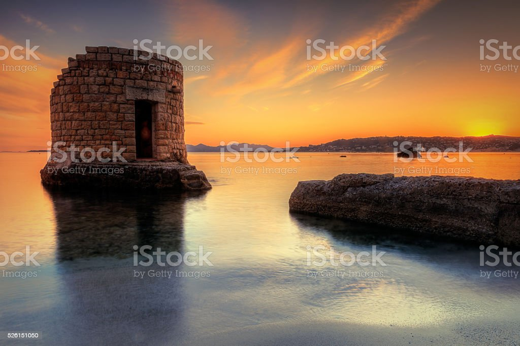 Lookout tower on the riviera: France stock photo