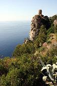 istock Lookout tower Torre De Ses Animes, Mallorca, Spain 629657304