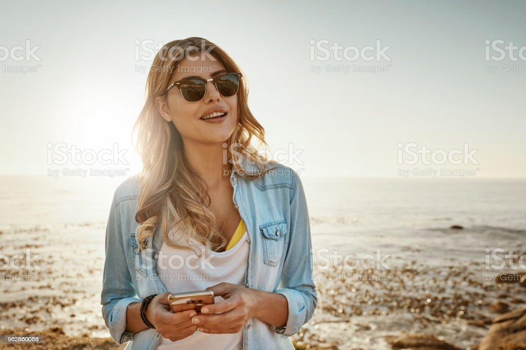 Looks like the beautiful weather is here to stay stock photo