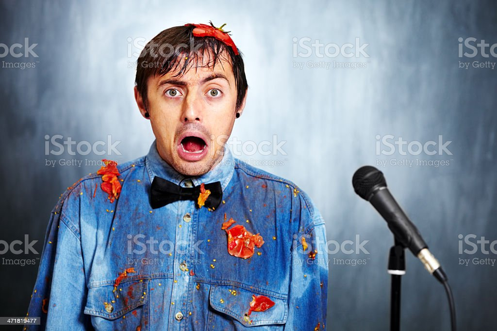 Looks like the joke's on him stock photo