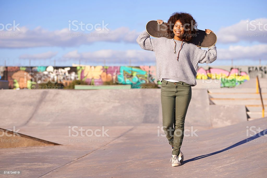 Looks like the park's all mine today stock photo