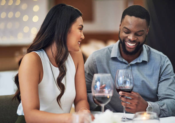 looks like this date is going well - date night stock pictures, royalty-free photos & images