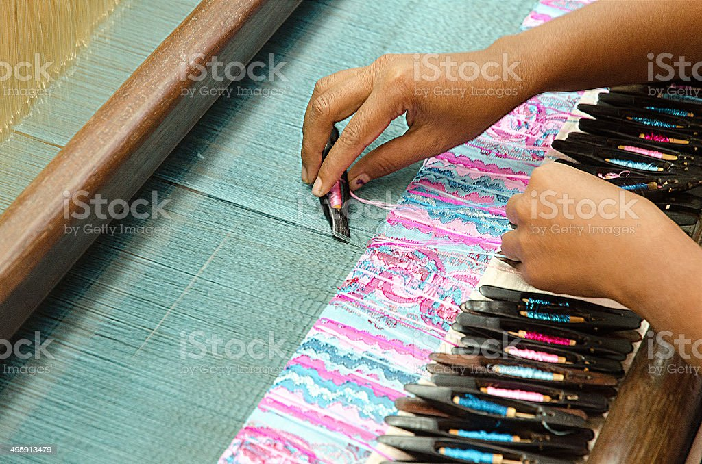 Loom. Myanmar. stock photo