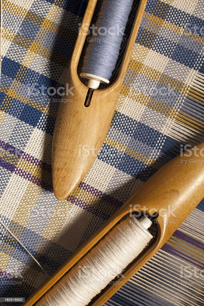 Loom Shuttle Spools royalty-free stock photo