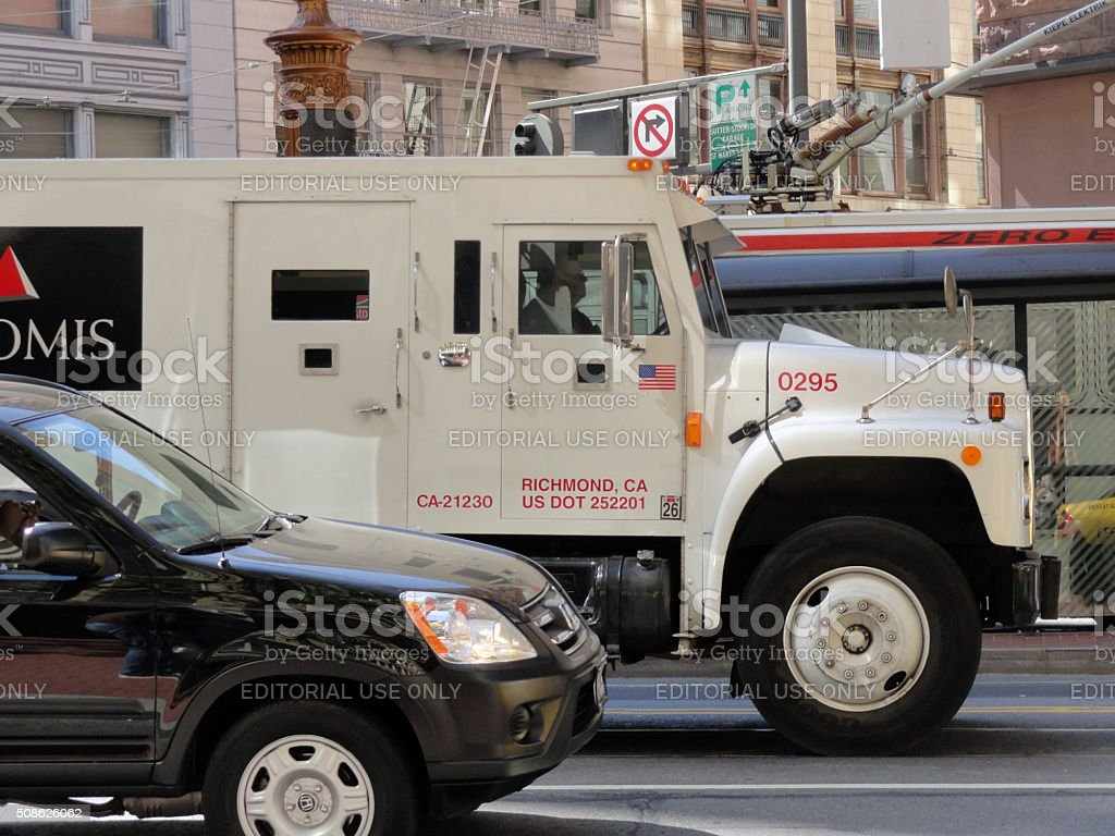 Loomis Armored Truck stock photo